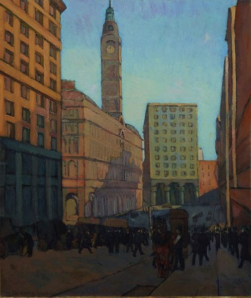 An image of Centre of a city by Grace Cossington Smith