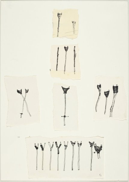 An image of (Studies of bound fork or crutch form) by Ross Mellick