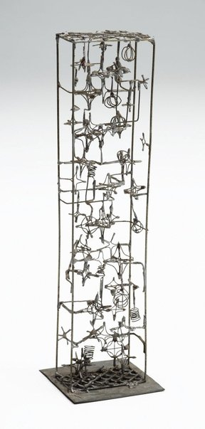 An image of Untitled ('Wire tower' maquette) by Margel Hinder