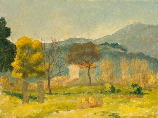 An image of Cemetery, south of France by Rupert Bunny