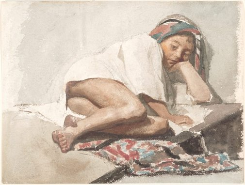 An image of Arab child, Port Said by Petrus van der Velden