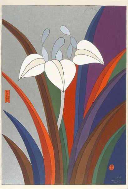 An image of May - iris by Awazu Kiyoshi