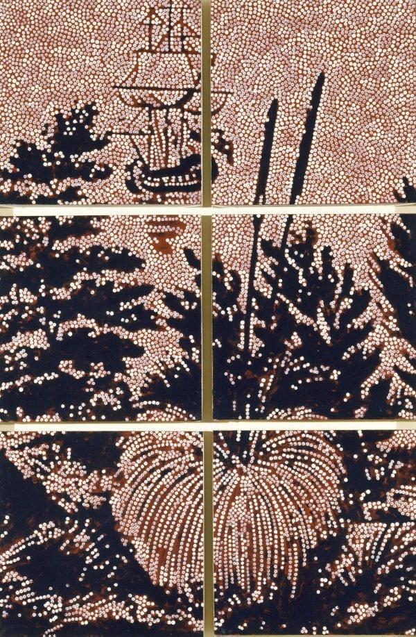 Metaphysical landscape no 2, (1990) by Gordon Bennett