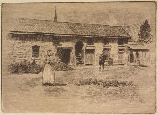 An image of Stables of the currency lass, Parramatta by Sydney Ure Smith