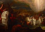 Alternate image of Joshua passing the River Jordan with the ark of the covenant by Benjamin West