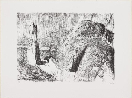 An image of The Gorge, Launceston by Lloyd Rees
