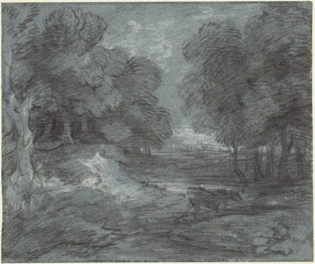 An image of A wooded landscape with a horse