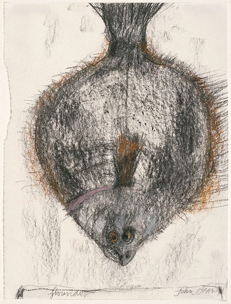 An image of Flounder by John Olsen