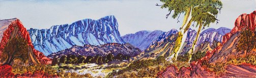 An image of Ormiston Gorge by Ivy Pareroultja