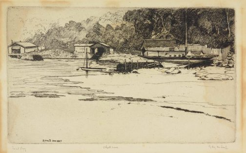 An image of Shell Cove by Sydney Ure Smith
