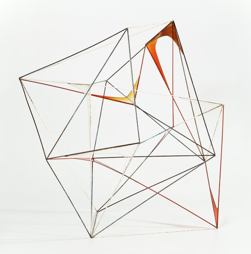 An image of Untitled (Perspex and rod construction) by Margel Hinder