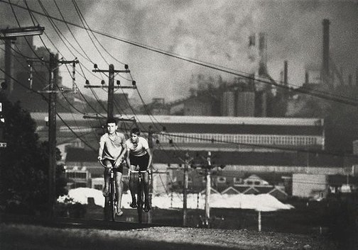 An image of Newcastle steelworks by David Moore