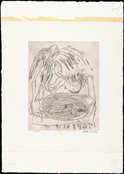 An image of (Illustration for 'Jonah' p.76) by Arthur Boyd
