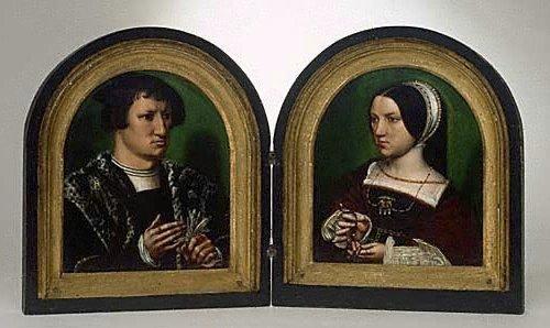 Portraits of Cornelius Duplicius de Scheppere and his wife Elizabeth Donche, (circa 1540) by Ambrosius Benson