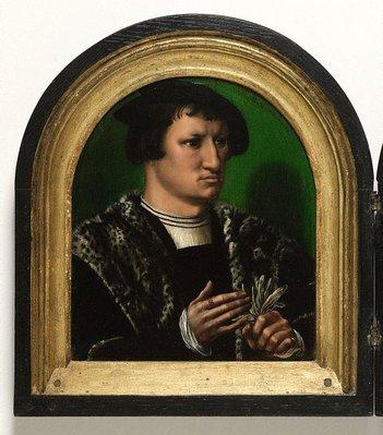 Alternate image of Portraits of Cornelius Duplicius de Scheppere and his wife Elizabeth Donche by Ambrosius Benson