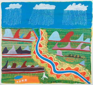 Nyamiyukanji, the river country, (1997) by Ginger Riley Munduwalawala