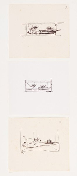 An image of (Three studies for Bird boat, egg raft) by Ross Mellick