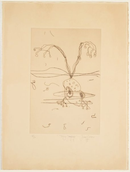 An image of Edge of the void frog jumping by John Olsen