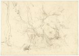 Alternate image of recto: River view verso: Eucalypt trunks by Lloyd Rees