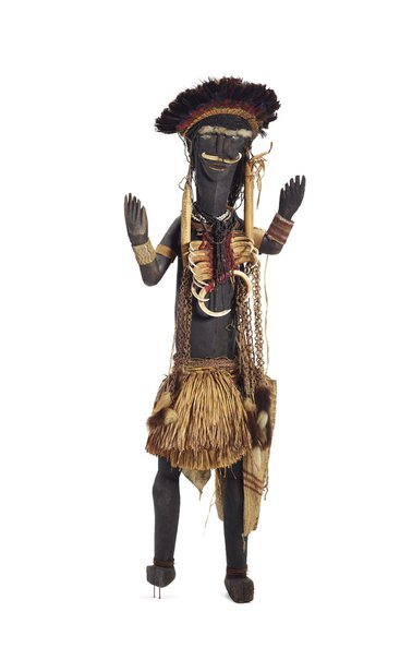 An image of Decorated male figure by