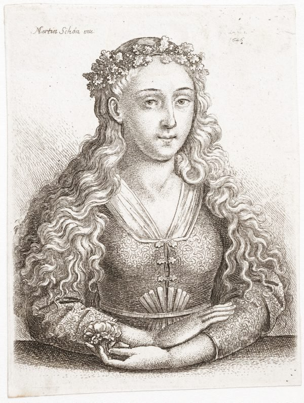 An image of The woman with an oak leaf crown