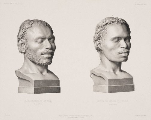 An image of Kaour & Kaour-Iga Natives of Torres Strait by Leveillé, after Bisson brothers