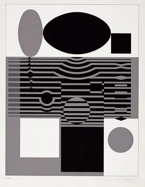 An image of Lauda IV by Victor Vasarely