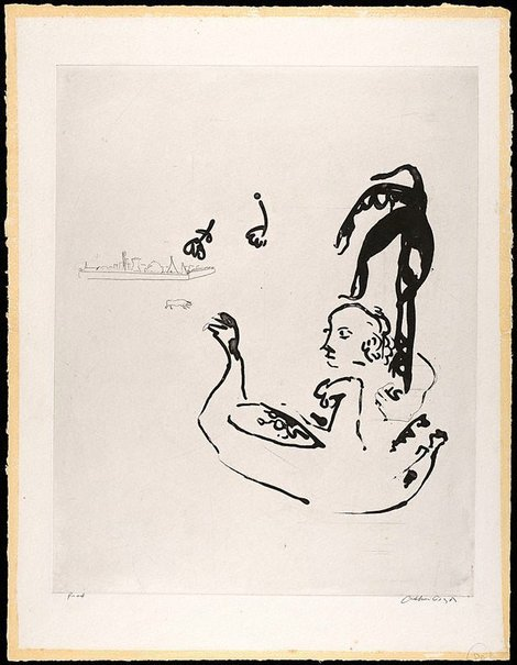 An image of (Illustration for 'Jonah' p.110) by Arthur Boyd