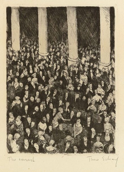 An image of The concert by Theo Scharf
