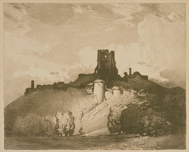 An image of Corfe castle