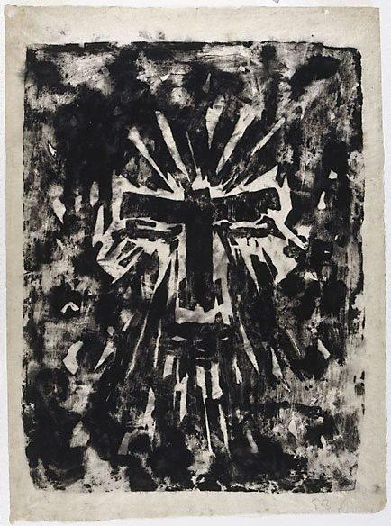 An image of Broken cross by Erich Buchholz