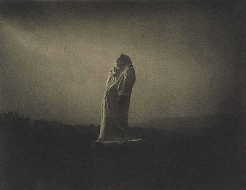 An image of Balzac, towards the light, midnight 1908, from Camera Work, nos 34/35, 1911 by Edward Steichen