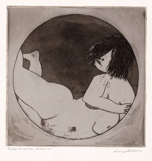 An image of Figure in circle by George Baldessin