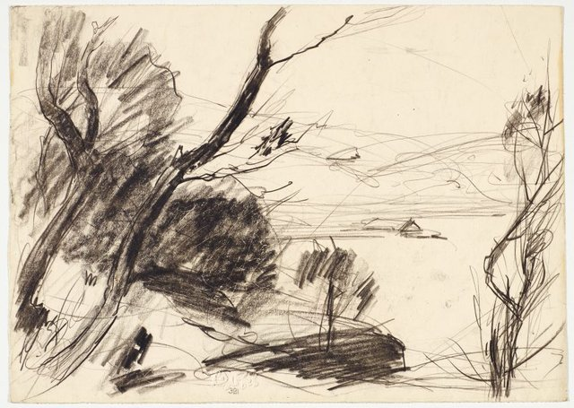 An image of recto: Trees and river verso: Two studies of the river