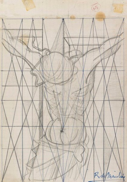 An image of Study for 'The crucifixion' by Roy de Maistre