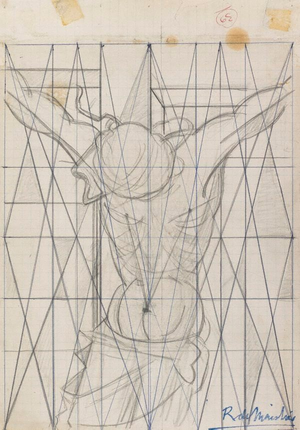 An image of Study for 'The crucifixion'