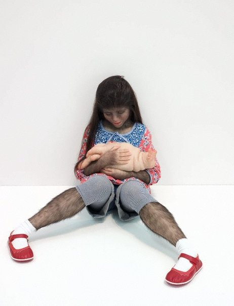 An image of The comforter by Patricia Piccinini