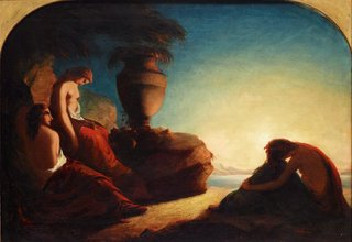 AGNSW collection Francis Danby The three sisters of Phaethon weeping over the tomb of their brother (1841-1845) 31.1971
