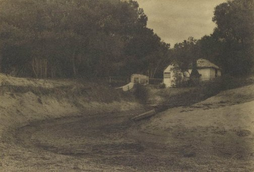 An image of The lone fishers hut by Alfred Field