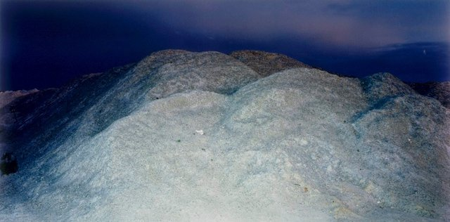 An image of Gypsum pile at old mine site 2