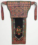 Alternate image of Baby carrier embroidered with orange butterfly design by Miao people