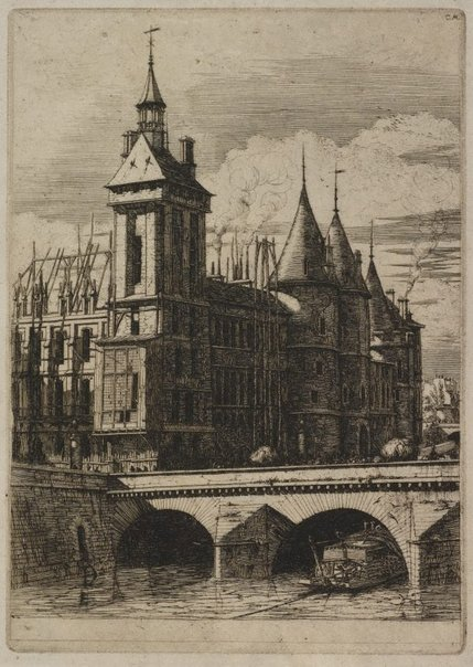 An image of The clock tower, Paris by Charles Meryon