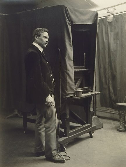 An image of Portrait of an operator, Freeman's studio