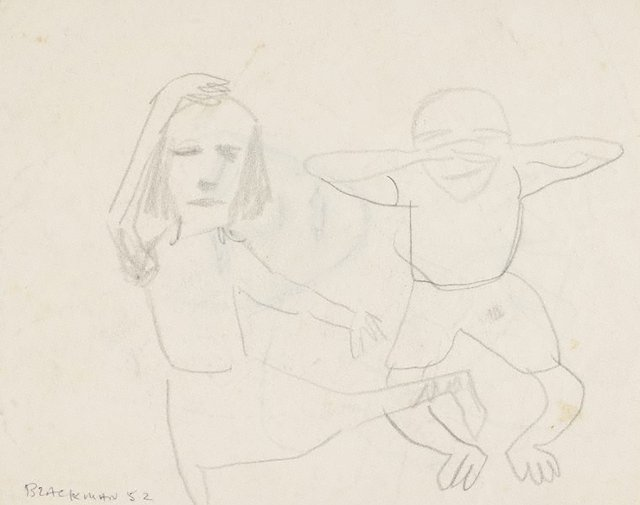 An image of Recto: (Dancing figures) Verso: (Study of a head)