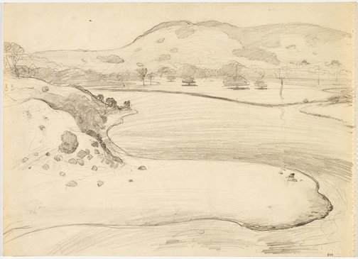 An image of recto: Werri Creek and Mount Saddleback verso: Sketch of Werri Creek by Lloyd Rees