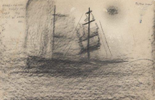 An image of (Sailing ship) by Charles Blackman