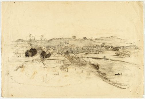 An image of recto: Werri landscape verso: Landscape and Sketch by Lloyd Rees