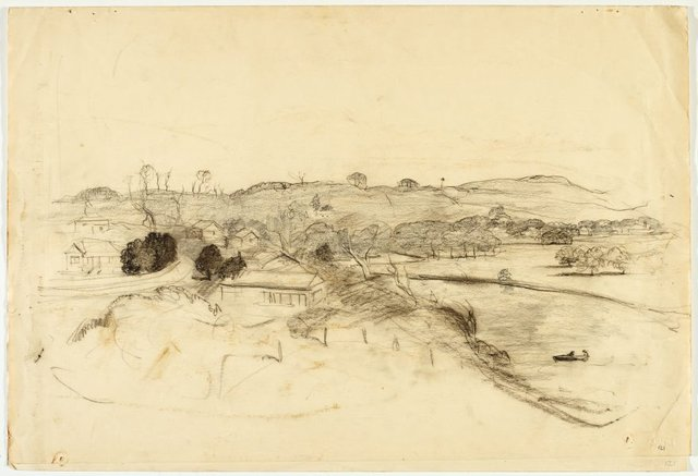 An image of recto: Werri landscape verso: Landscape and Sketch