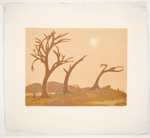 An image of The dead trees by Ethleen Palmer