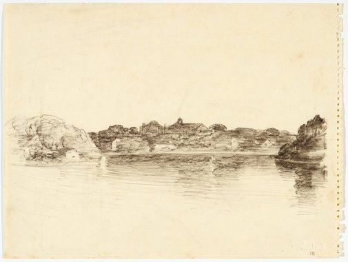 An image of River shoreline from Northwood by Lloyd Rees